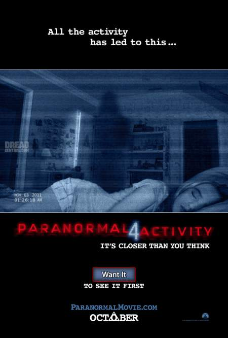 Cartel de Paranormal Activity 4