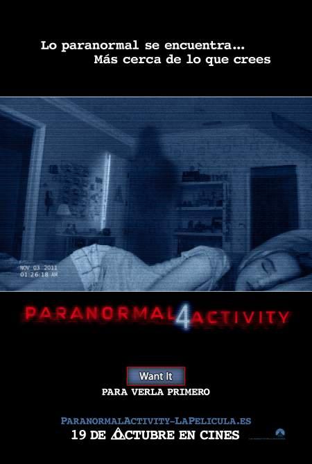 Cartel de Paranormal Activity 4