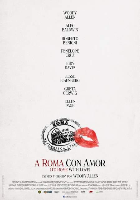 Cartel de A Roma con amor