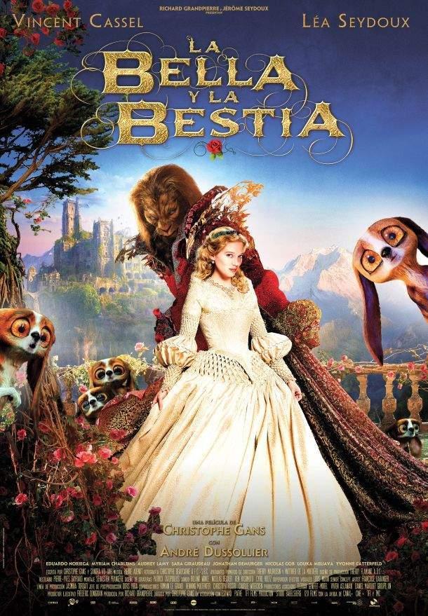 Cartel de La bella y la bestia de Christophe Gans
