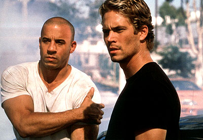 Vin Diesel y Paul Walker en A todo gas 4